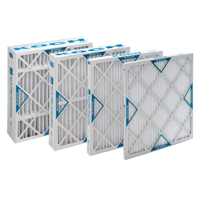 Merv 8 Surface 20W x 25H x 1D Capacity Xl8 Pleated Panel Ext Lot of 12 KochTM Filter 102-700-009 Std
